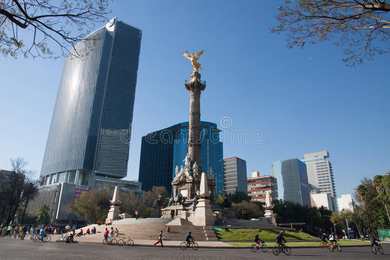Indipendence Monumet, Mexico-City royalty-vrije stock foto