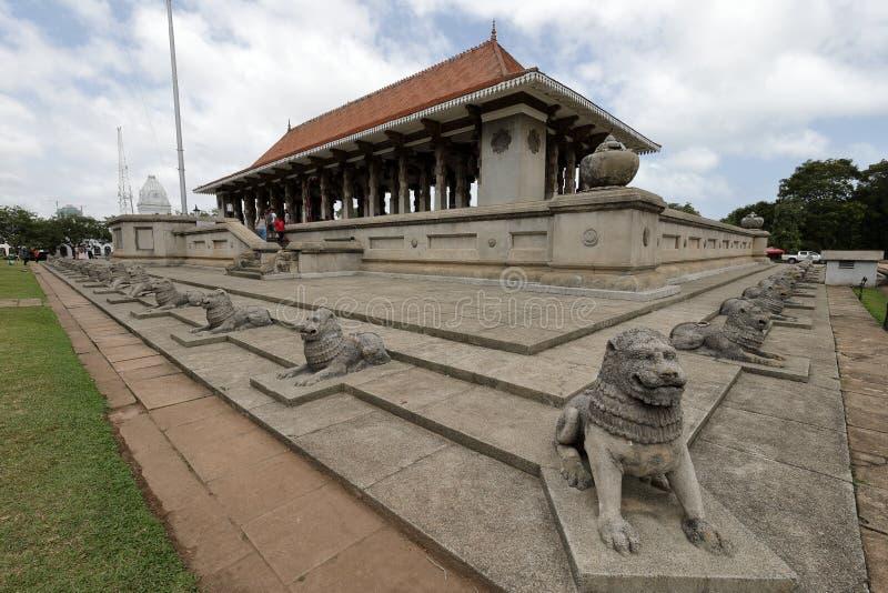 Indipendenza Corridoio di Colombo nello Sri Lanka fotografia stock libera da diritti