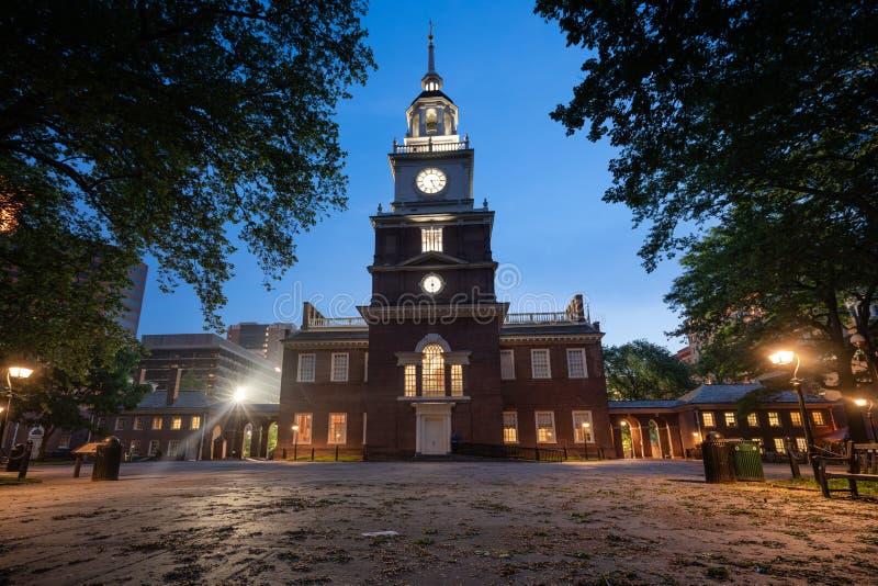 Indipendenza Corridoio a Philadelphia immagine stock