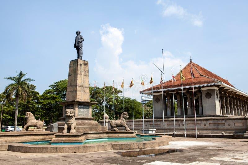 Indipendenza Memorial Hall a Colombo, capitale dello Sri Lanka immagine stock