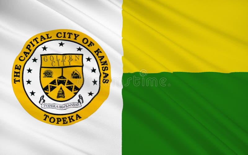 Indique a bandeira do Topeka - uma cidade na parte central do unido ilustração royalty free