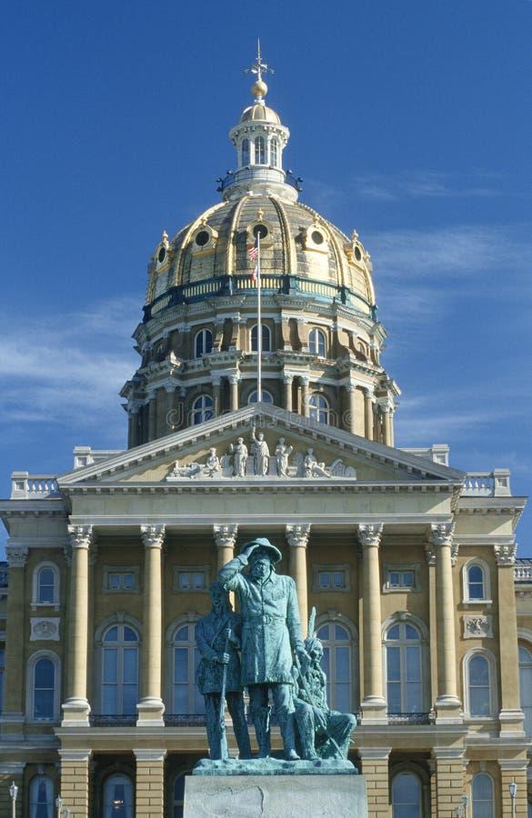 Indique el capitolio de Iowa foto de archivo