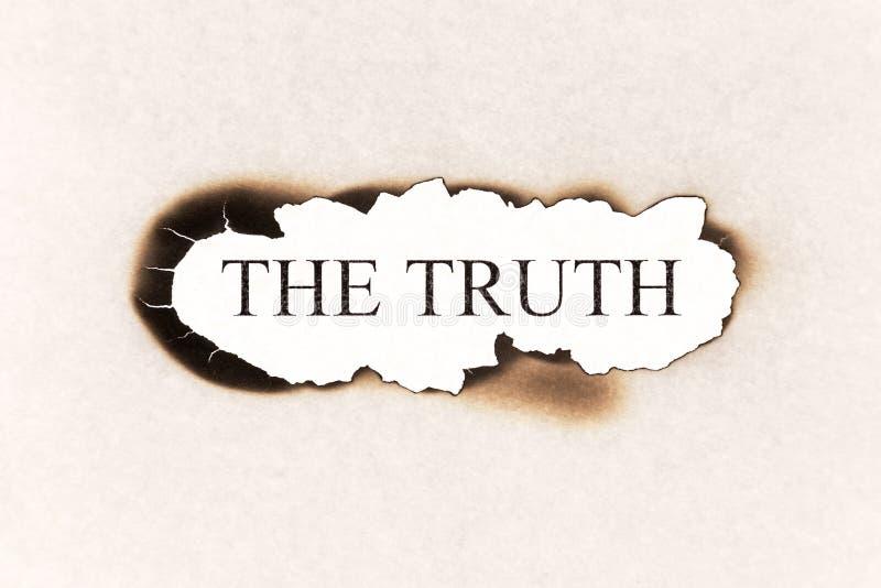 Indiquez la vérité - texte de vérité photo libre de droits
