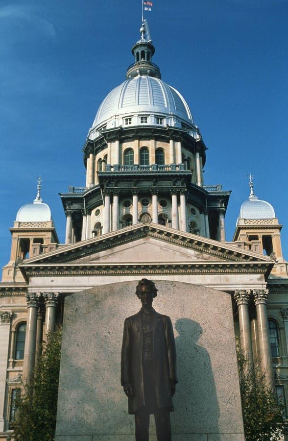 Indiquez Le Capitol De L Illinois Image libre de droits
