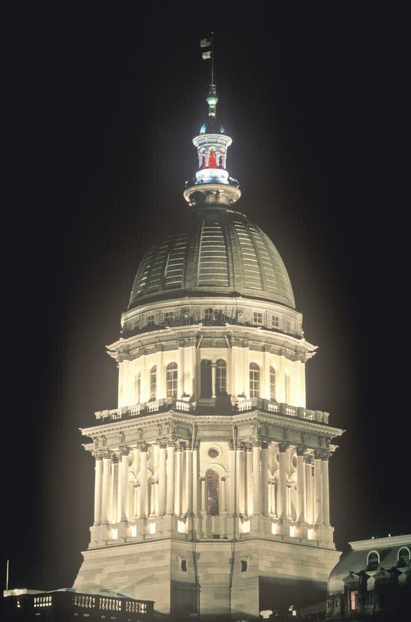 Indiquez Le Capitol De L Illinois Photos libres de droits
