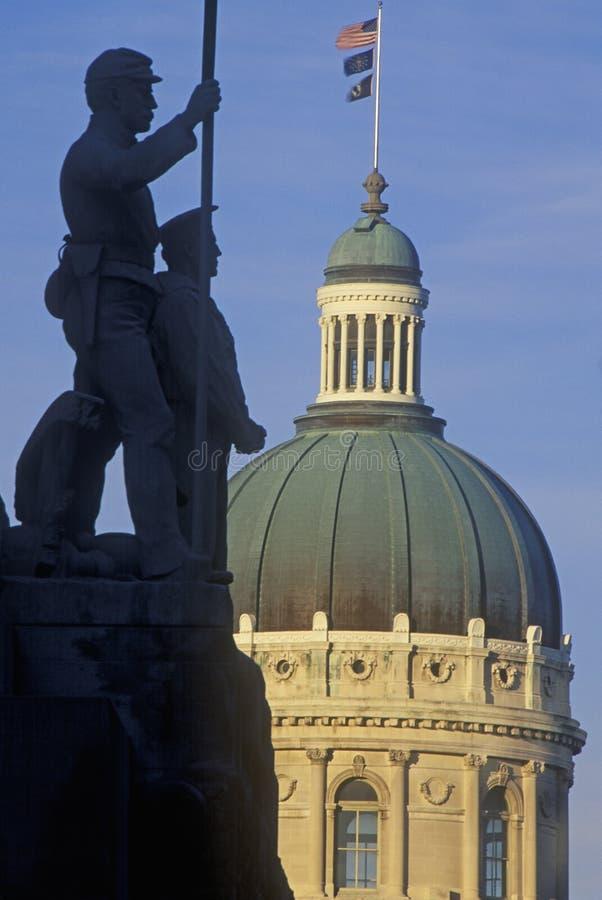 Indiquez le capitol de l'Indiana photo libre de droits