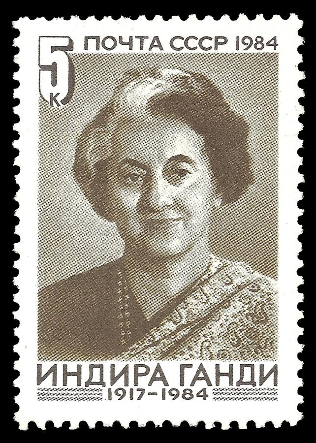 Indira Gandhi arkivfoton