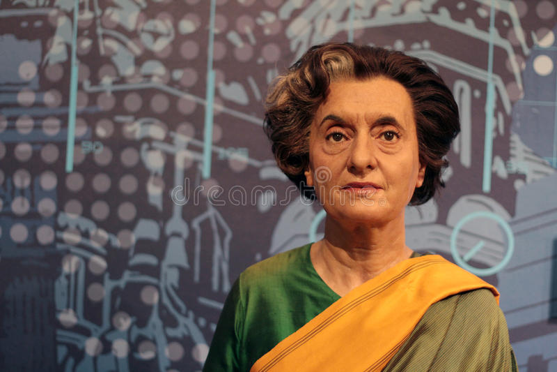 Indira Gandhi royaltyfria bilder