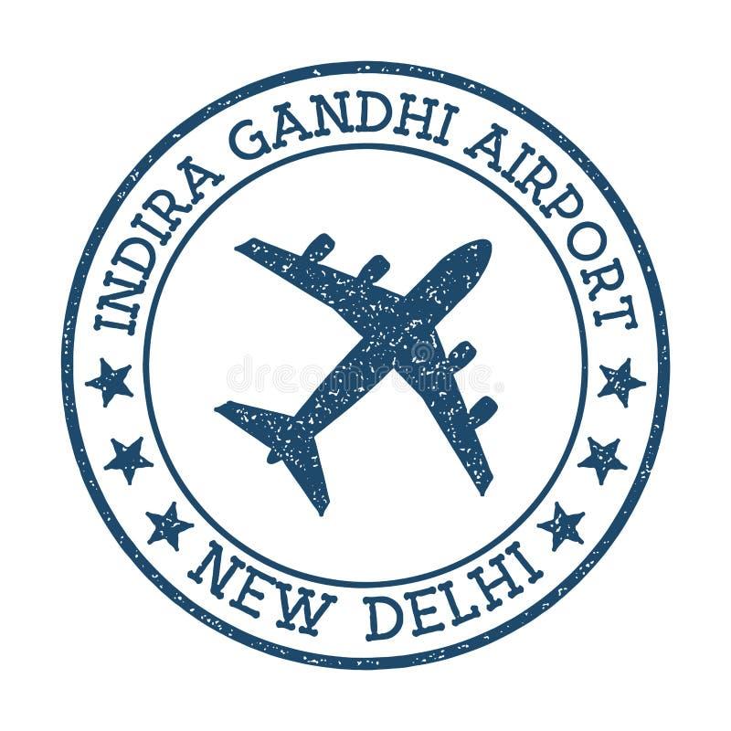 Indira Gandhi Airport New Delhi-embleem royalty-vrije illustratie