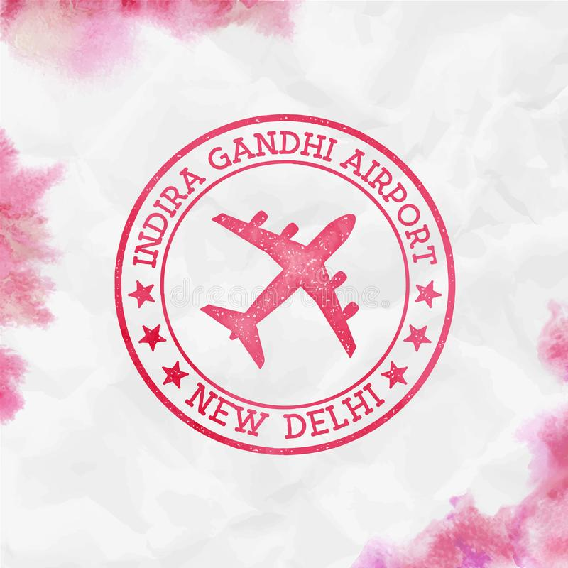 Indira Gandhi Airport New Delhi-embleem stock illustratie