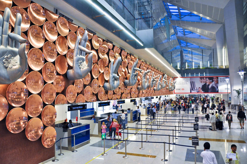 Indira Gandhi International Airport stock image