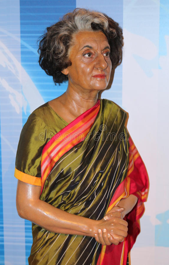 Indira Gandhi at Madame Tussaud's stock images