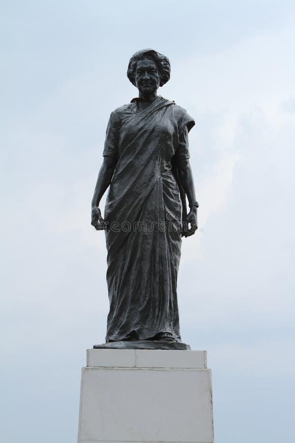 Indira Gandhi Statue dans l'Inde de Shimla image libre de droits