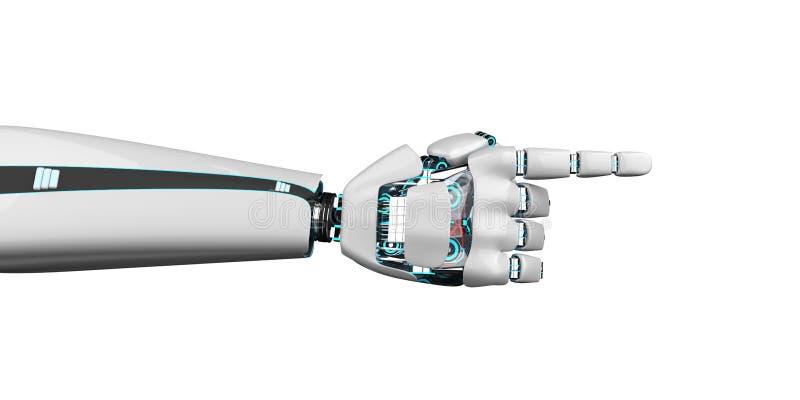 Indirecta Humanoid de la mano del robot stock de ilustración