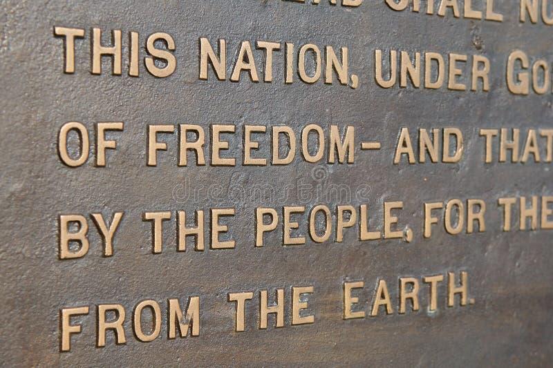 Indirizzo di Gettysburg fotografia stock