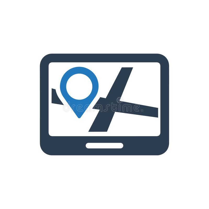 Indirizzo, icona della destinazione illustrazione di stock
