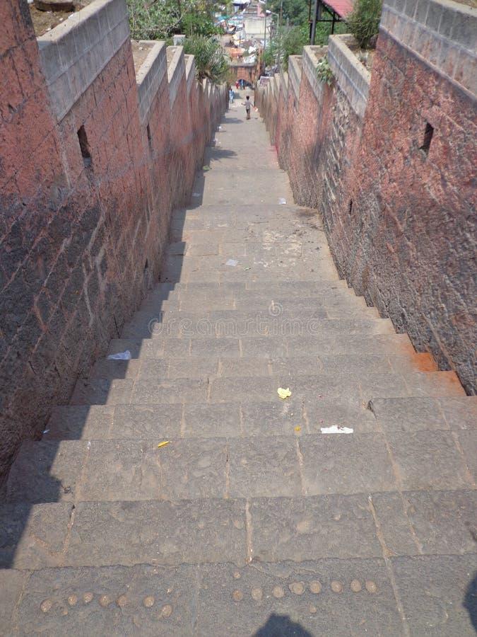 Indisch architechture van tempeltreden en ontwerpart. stock foto