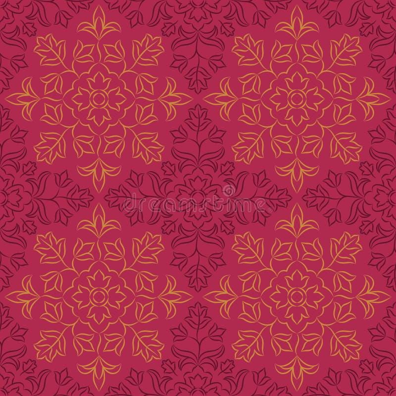 Indisch bloemenpatroon stock illustratie