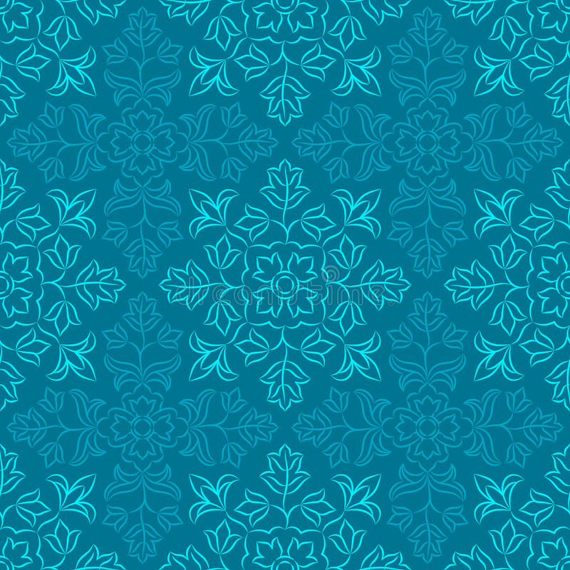 Indisch bloemenpatroon vector illustratie