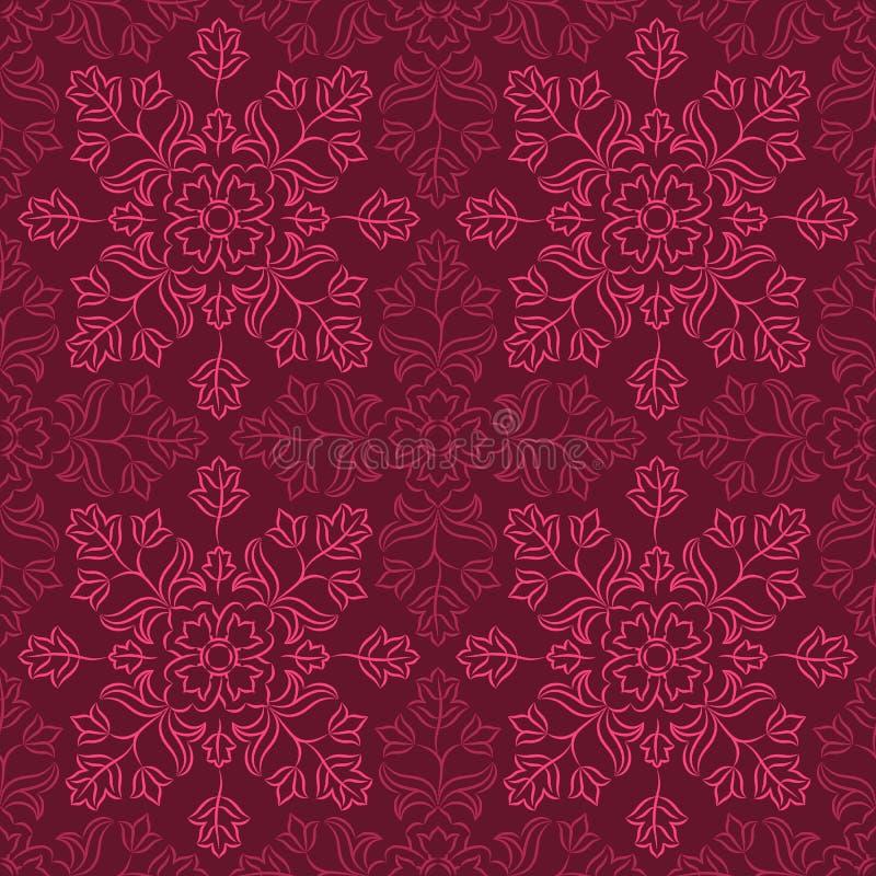 Indisch bloemenpatroon royalty-vrije illustratie