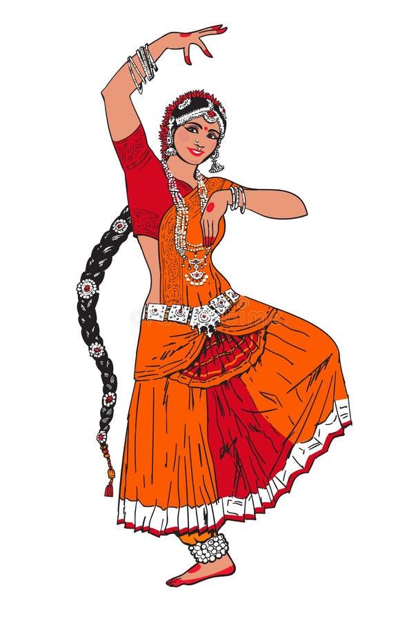 Indisch Bollywood-meisje stock illustratie