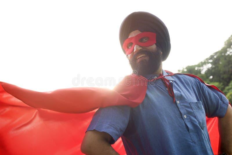 Indisch de Machtsconcept van Mensensuperhero royalty-vrije stock foto