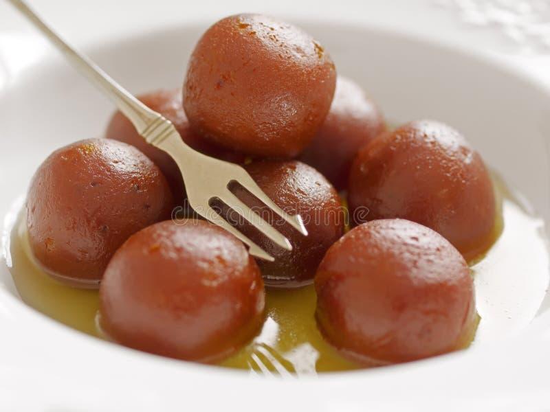 Indisch dessert gulab jamun royalty-vrije stock afbeelding