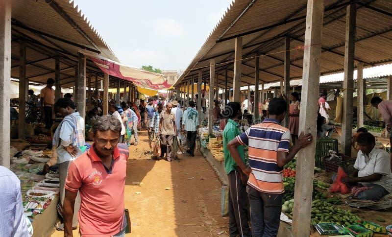 Indisch, Dorf-Standorte Market Place, Westbengalen, Paschim Medinipur, Narayangarh stockbilder