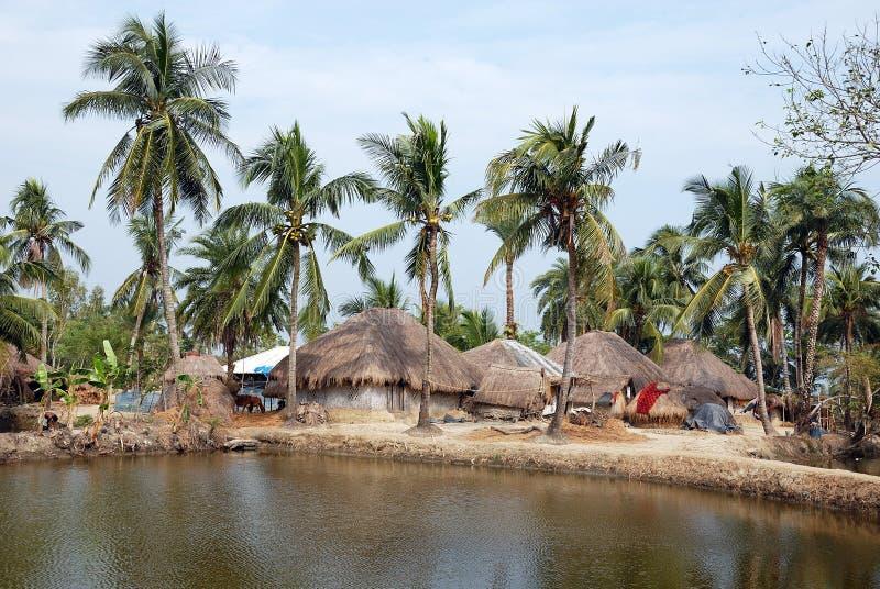 Indisch dorp. stock afbeeldingen