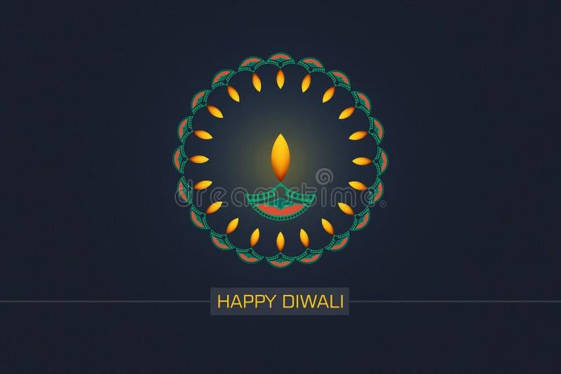 Indisch Festival Diwali, Diwali-lamp en bloemrangoli royalty-vrije stock afbeeldingen