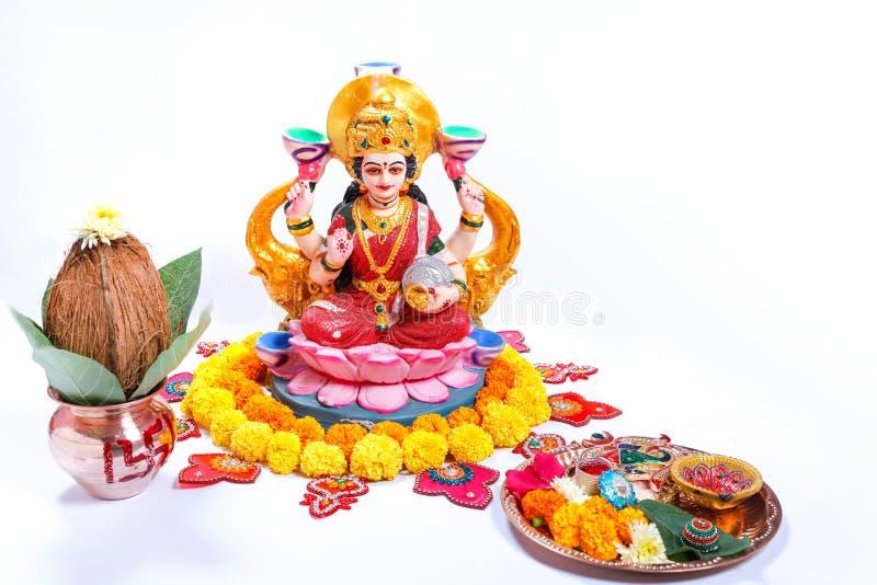 Indisch Festival Diwali, Laxmi Pooja royalty-vrije stock afbeeldingen