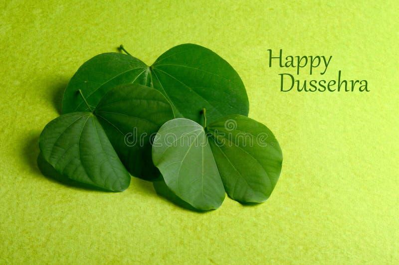Indisch Festival Dussehra, die gouden blad tonen royalty-vrije stock afbeeldingen