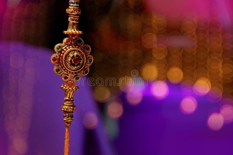 Indisch festival Raksha Bandhan, Raakhi stock afbeeldingen