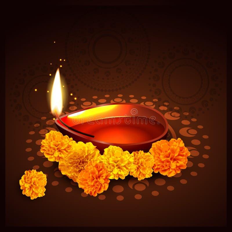 Indisch festival van diwali royalty-vrije illustratie