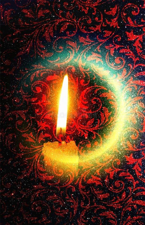 Indisch festival van kleurrijke de verlichtingsachtergrond van Diwali royalty-vrije stock foto's