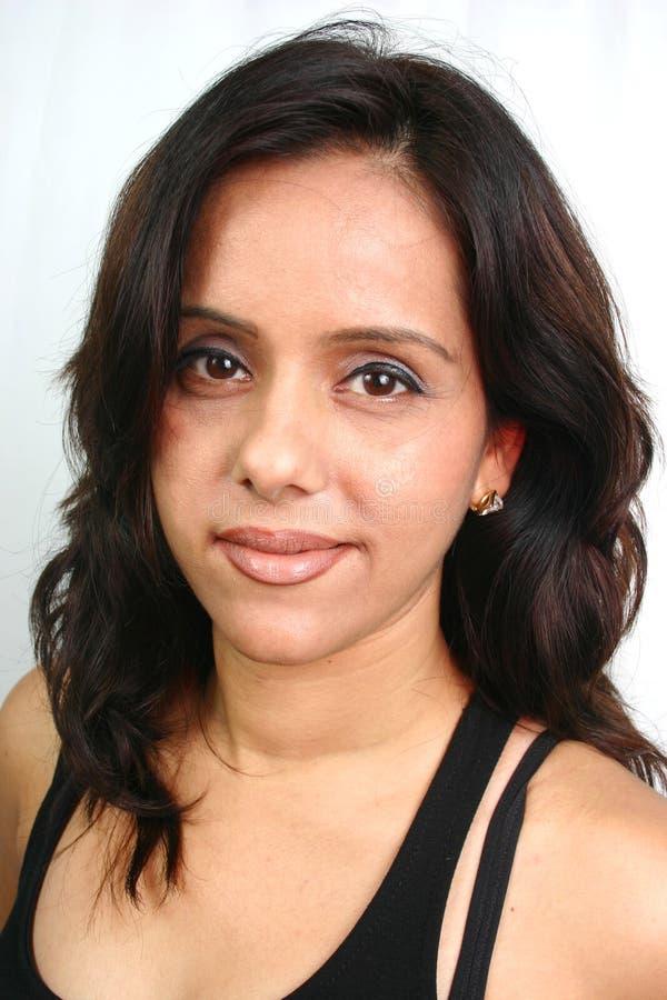 Indisch gezicht (reeks) stock fotografie