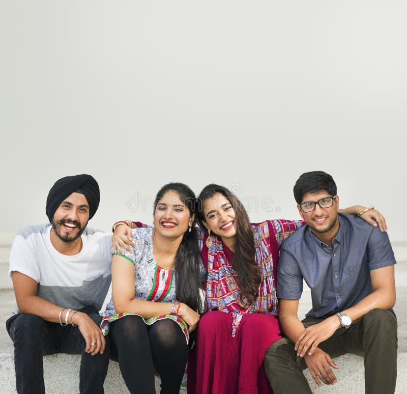 Indisch het Behoren tot een bepaald ras Aziatisch Communautair Concept Van het Middenoosten royalty-vrije stock afbeelding
