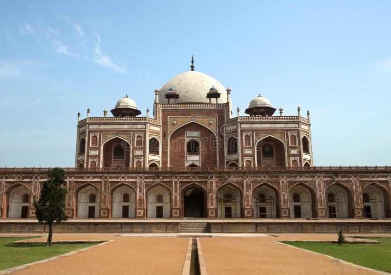 Indisch het grafmausoleum van Delhi Humayun. Reis naar India stock afbeeldingen