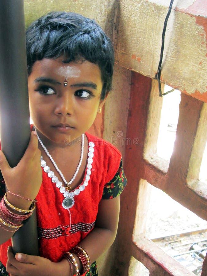 Indisch kind stock foto's