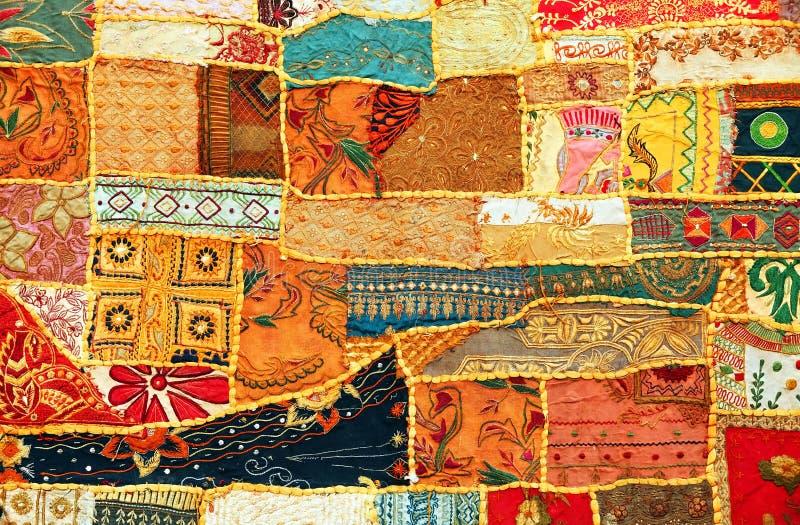Indisch lapwerktapijt stock afbeeldingen