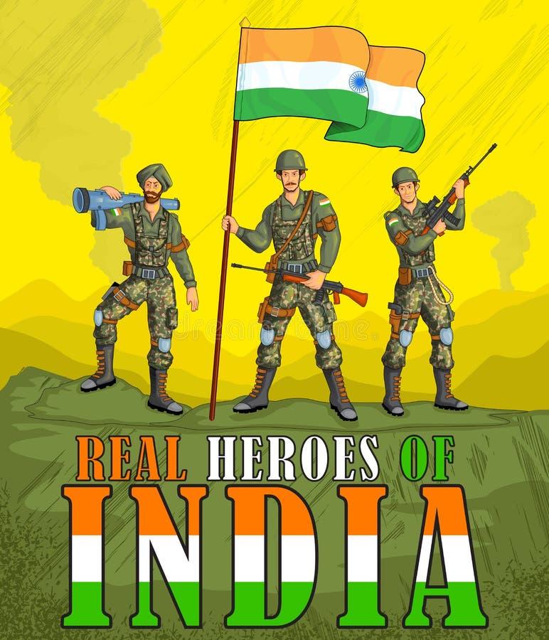 Indisch leger die overwinning van India tonen royalty-vrije illustratie