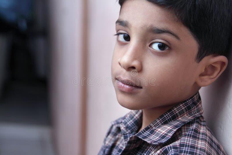 Indisch Little Boy stock afbeelding
