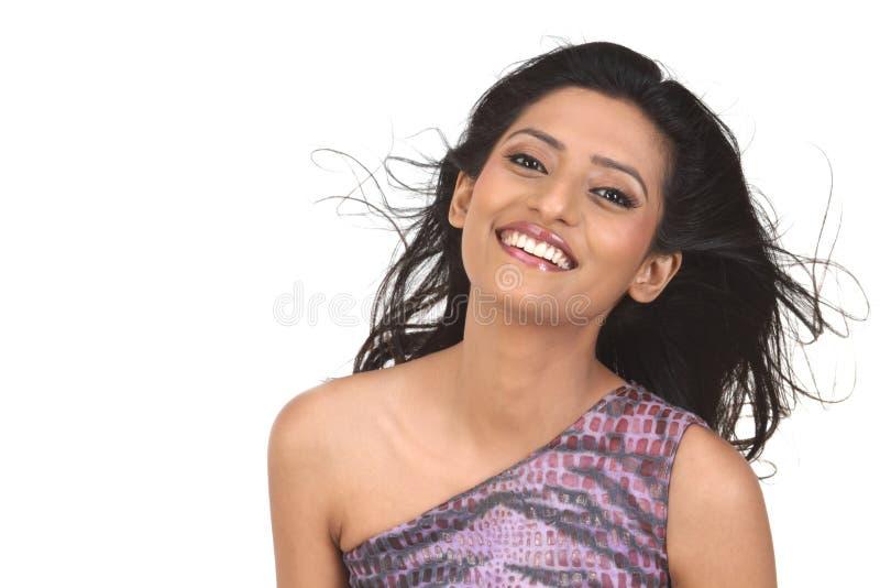 Indisch meisje het glimlachen Portret royalty-vrije stock afbeelding