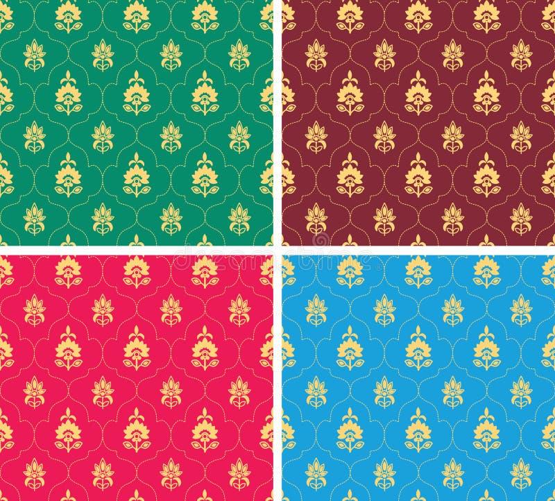 Indisch naadloos behang stock illustratie