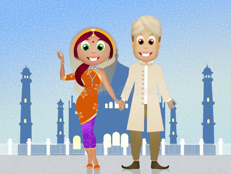 Download Indisch paar stock illustratie. Illustratie bestaande uit rood - 54086102