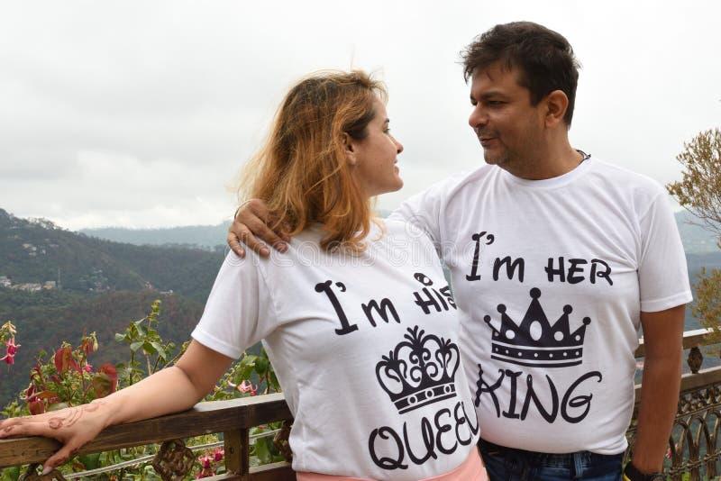 Indisch Paar Haar Koning His Queen stock afbeeldingen
