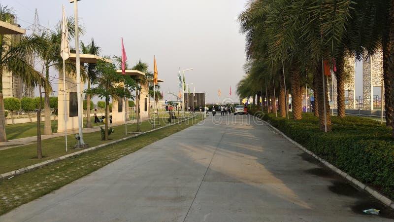 Indisch park in openlucht van stad stock afbeelding