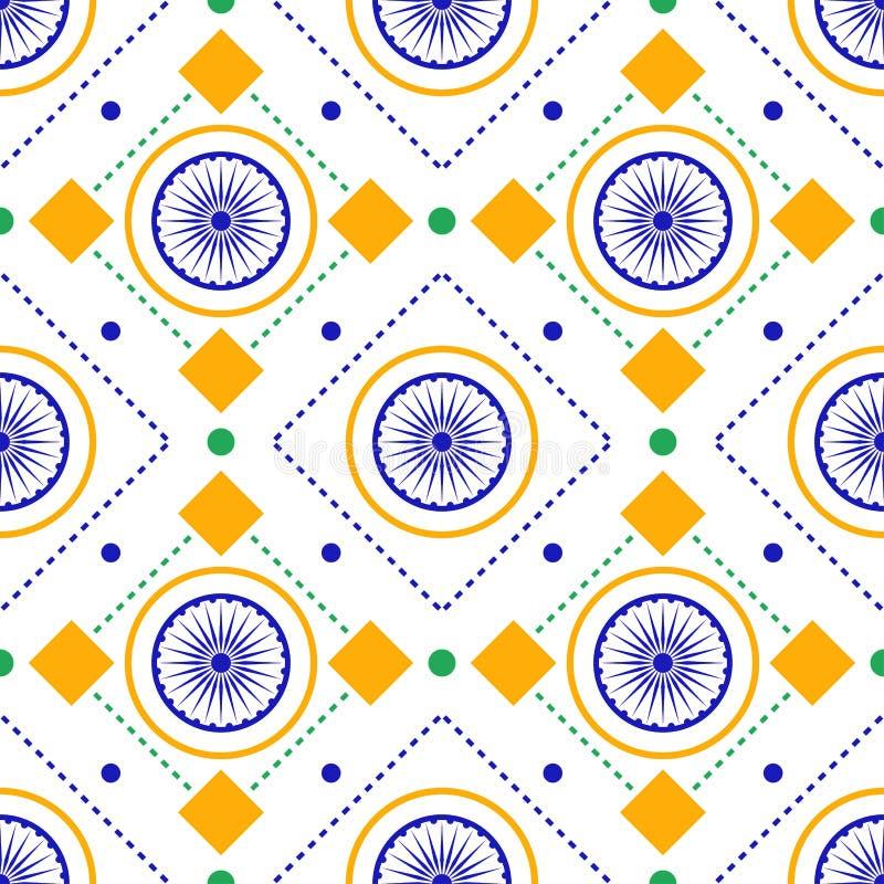 Indisch patriottisch naadloos patroon vector illustratie