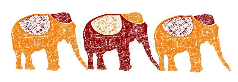 Indisch patroon vector illustratie