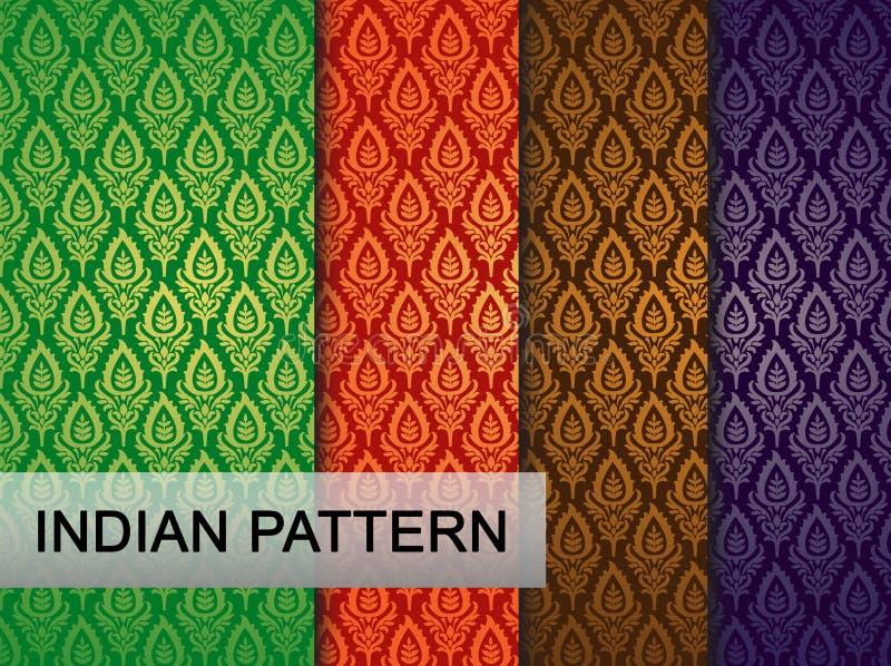 Indisch Patroon stock illustratie